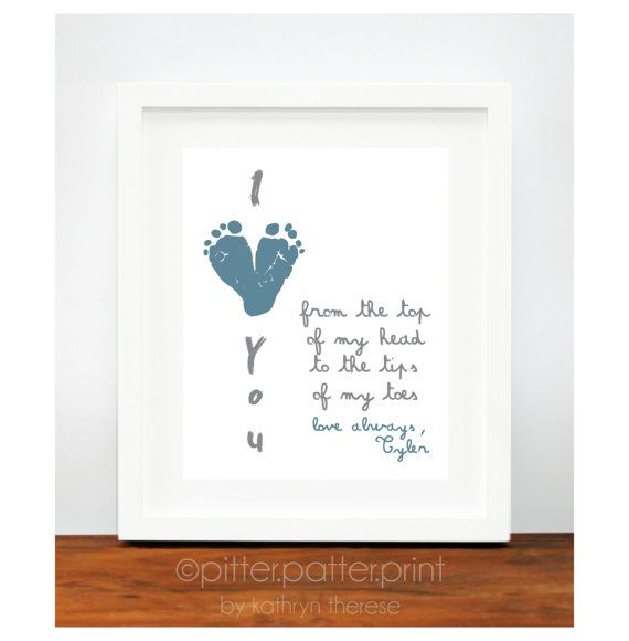 first fathers day gift for new dad i love by pitterpatterprint