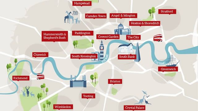 Discover hidden gems in London with this London attractions map showing lesser-known and unusual things to do in London areas, including Central London.