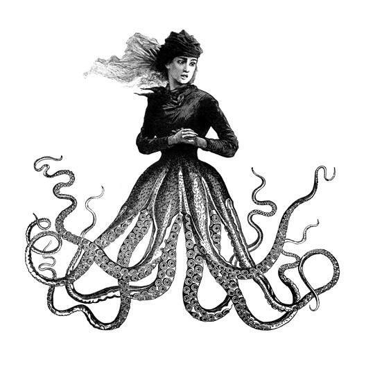 Steampunk Tendencies   Dan Hillier  #Ilustration #Victorian #Tentacles
