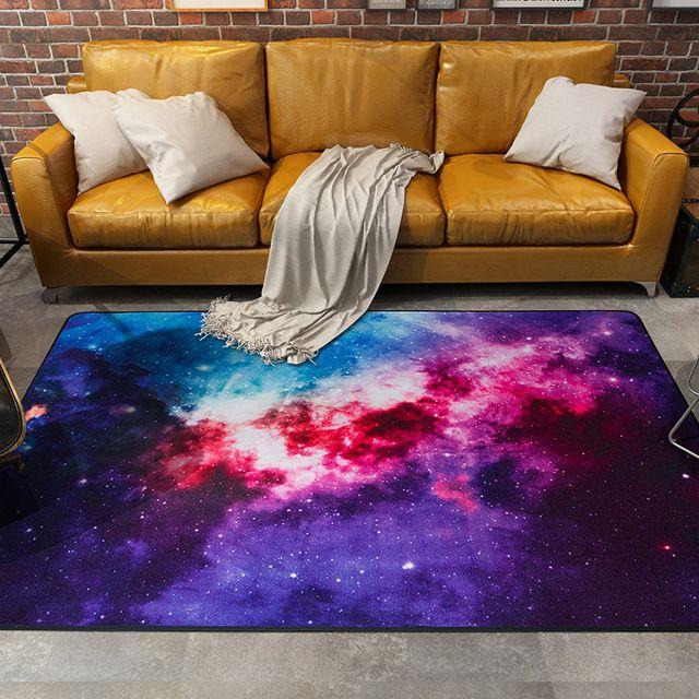 Красочные Galaxy Ковры Ковры Космический Спутник Универсальный Шаблон Площадь Ковер Скольжения Устойчивостью Двери Коврик Для Спальни Гостиной