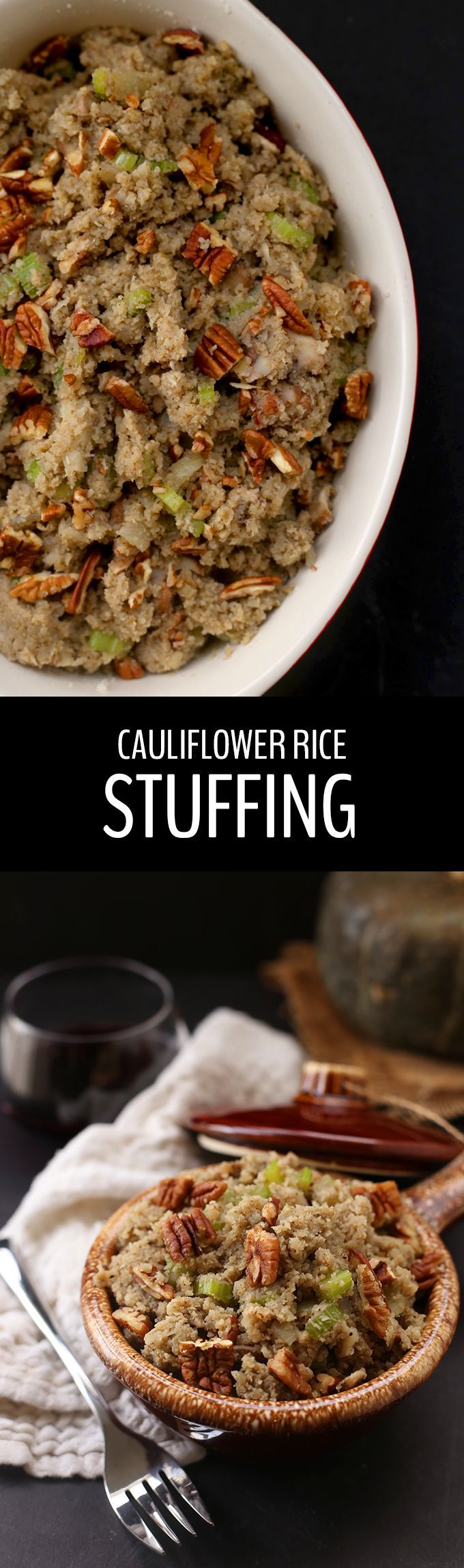 This healthy, low-carb cauliflower rice stuffing will convince your Thanksgiving guests to jump on board the cauliflower rice train, while secretly getting them to eat more veggies! Plus it's ready in under 20 minutes.