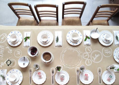 DIY : UNE JOLIE TABLE EN KRAFT ET FEUTRE BLANC |