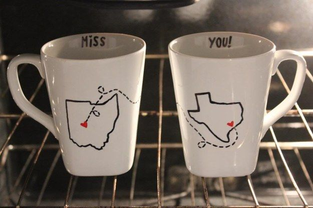 Make matching state mugs for impromptu coffee dates. | 17 Ways To Keep In Touch With Your Long-Distance BFF