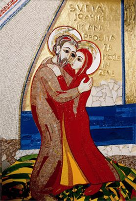Les parents de la Vierge Marie - Mosaïque de Marko Rupnik