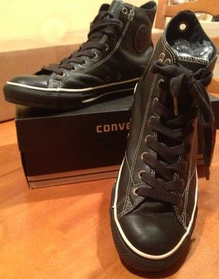 baa878775f29 Converse All Star Black Leather High Top british-flower-delivery.co.uk