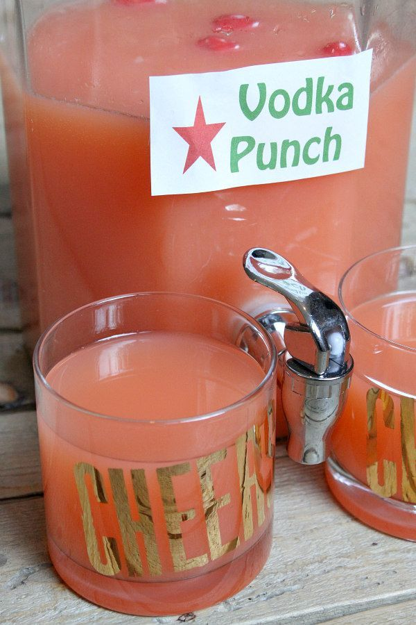 Easy Vodka Party Punch recipe - from http://RecipeGirl.com