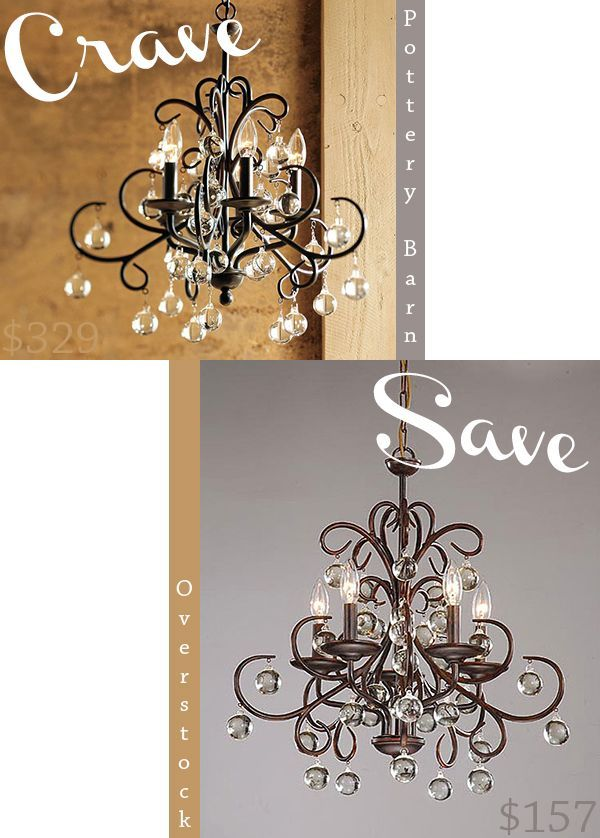 Get the look for {less than} half the price! This chandelier from Overstock is an exact replica of the Pottery Barn Bellora Chandelier!