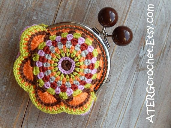 PURSE 'braun' by ATERGcrochet by ATERGcrochet on Etsy
