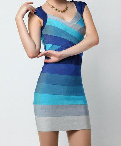 Zeštíhlující šaty blue
