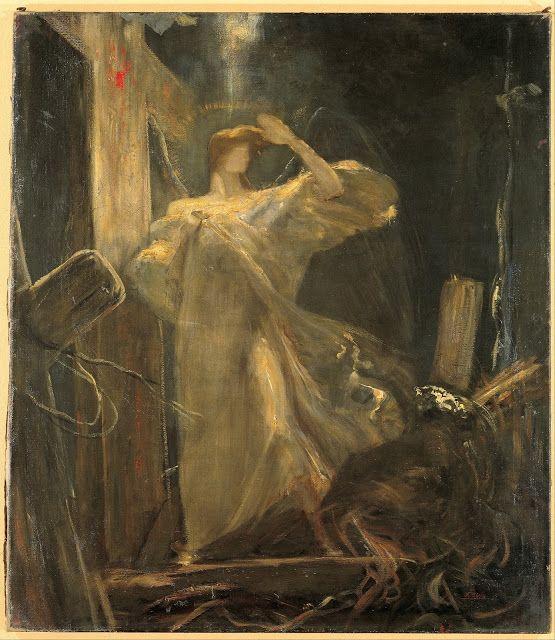 Le Prince Lointain: Nikolaos Gyzis (1842-1901), L'Archange, étude pour...