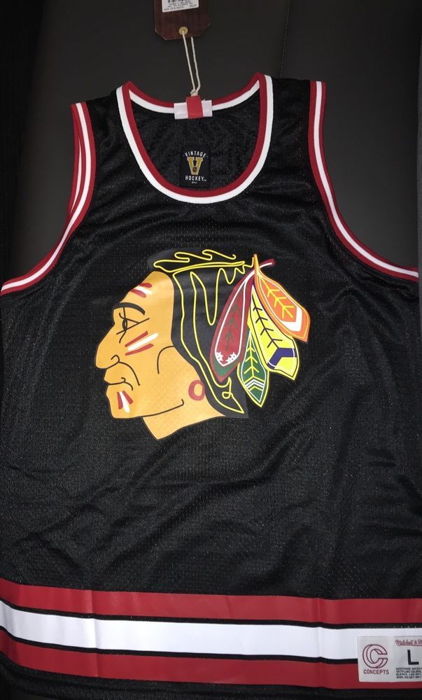 Concepts X Mitchell Ness #Chicago Blackhawks Jersey Tank- Size Xl New With Tags from $64.99