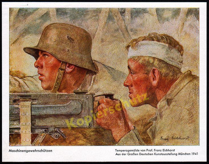 Franz Eichhorst Landser Stahlhelm M1916 Maschinengewehr MG 08/15 Westfront 1918 | eBay