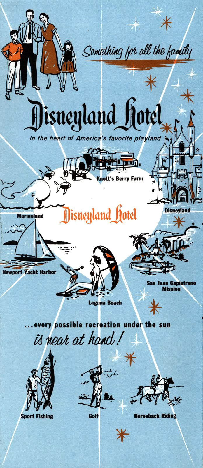 1957 Disneyland Hotel brochure via Vintage Disneyland Tickets | I think I'm going to work there!