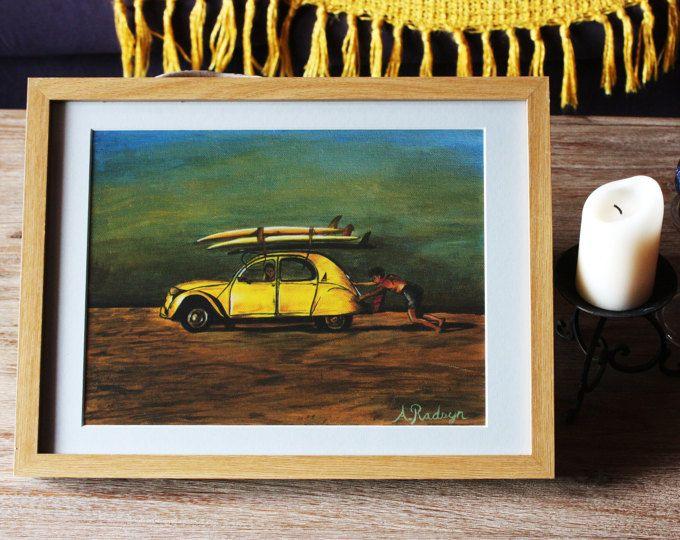 Kombi Love - Acrylic Print for sale on Etsy