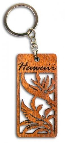 Hawaiian Key Chain Laser Cut Wood Keychain Hawaii Bird of Paradise by Buns of Maui. $6.99. Hawaiian Novelty Souvenirs make a great gift for that special someone!. Hawaiian Laser Cut Wood Key Chain. Measures approximately 1.25 in. wide by 2.75 in. long.