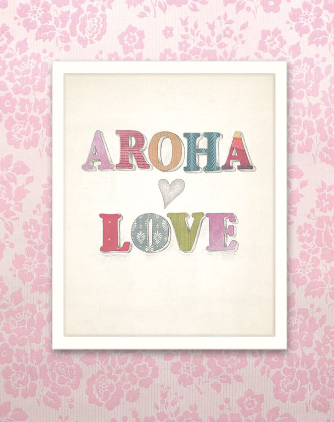 Aroha / Love collage. Red Ink Design imagecault.co.nz