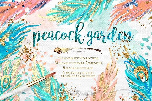 Peacock Garden Graphics **Handpainted acrylic & watercolor collection.**Take a look at my other Peacock patterns: crea by Karamfila