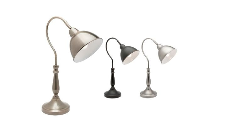 Merlin Touch Table Lamp Antique Brass, Black or Pewter Mercator A43711, $69.00