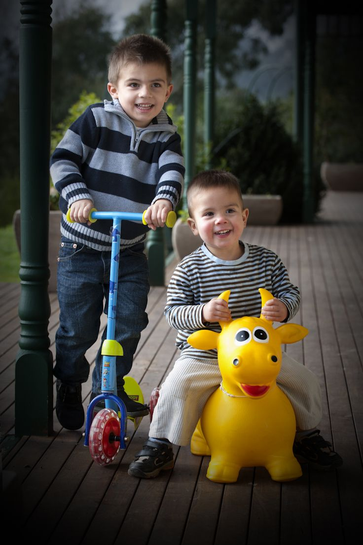 Zak, Jake & Tyler - Toys always bring out the smiles