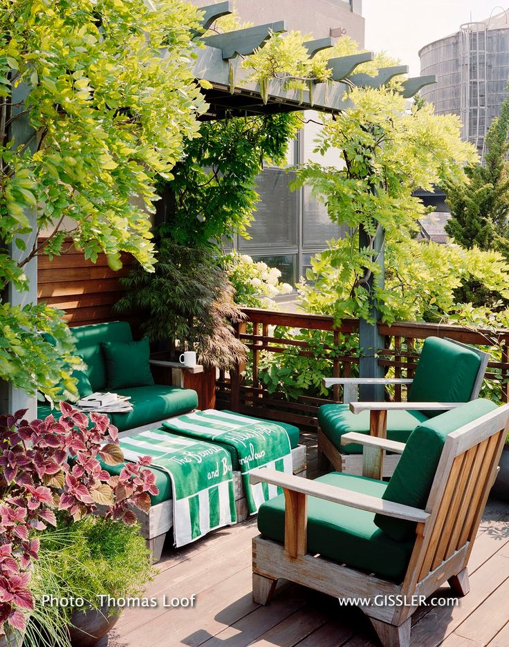 Michael Kors and Lance Lepere's terrace at their Greenwich Village penthouse apartment.