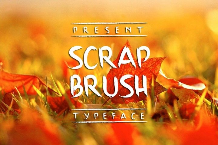 Scrap Brush Typeface from Atjcloth studio File included  01_Scrap Brush.ttf…