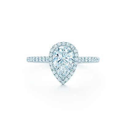 This would do nicely....Tiffany Soleste® Pear Engagement Rings | Tiffany & Co.