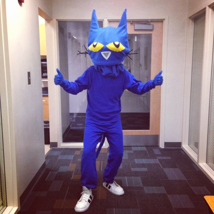 Do-It-Yourself Pete the Cat Costume Story book costume for William's Halloween parade.