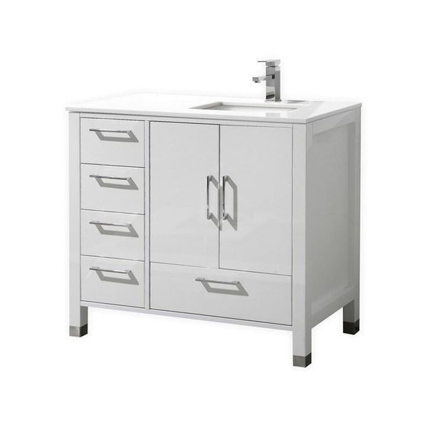 View The Ronbow 081930 3r Shaker 30 Wood Vanity Cabinet With Two