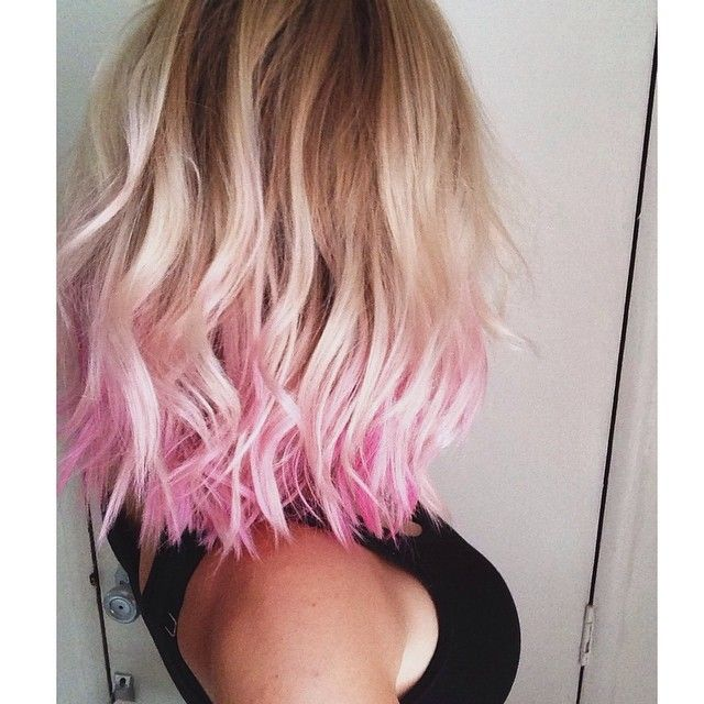One day I'll get the guts to cut my hair and do a fun color like this...one day