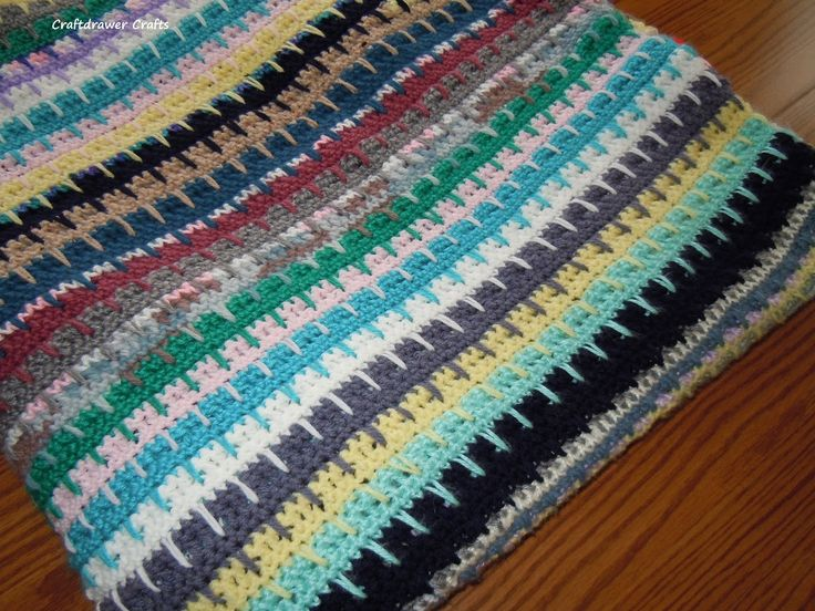 Free Crochet Pattern Easy to Crochet V-Stitch Scrap Yarn ...