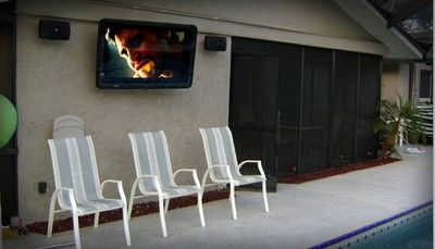 "The TV Shield 40-50"" weatherproof TV enclosure with one fan. The TV Shield"