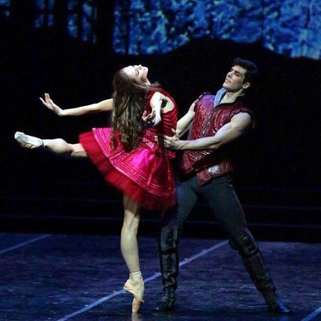"Polina Semionova Полина Семионова and Roberto Bolle, ""Cinderella"" choreography by Mauro Bigonzetti, Teatro alla Scala"