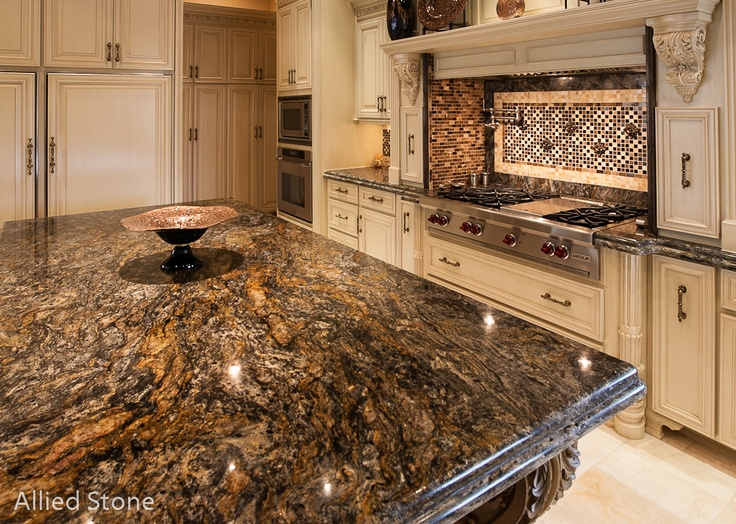 17 best images about kitchen islands on pinterest blue for Stone kitchen island