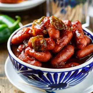 Crock Pot Little Smokies ; The sauce is sweet and tangy and perfectly compliments the smokiness of the cocktail weiners. I use a jar of chili sauce, a jar of grape jelly, a can of crushed pineapple, and a few chopped jalapenos to give it a little heat.