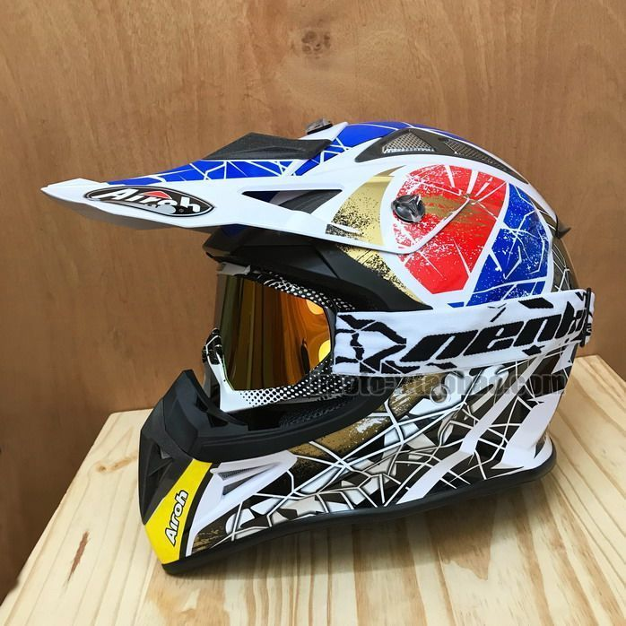 Motoross Full Face Helmet Motorcycle Dirt Bike Helmets come with Goggle #ahimotox #Motocross