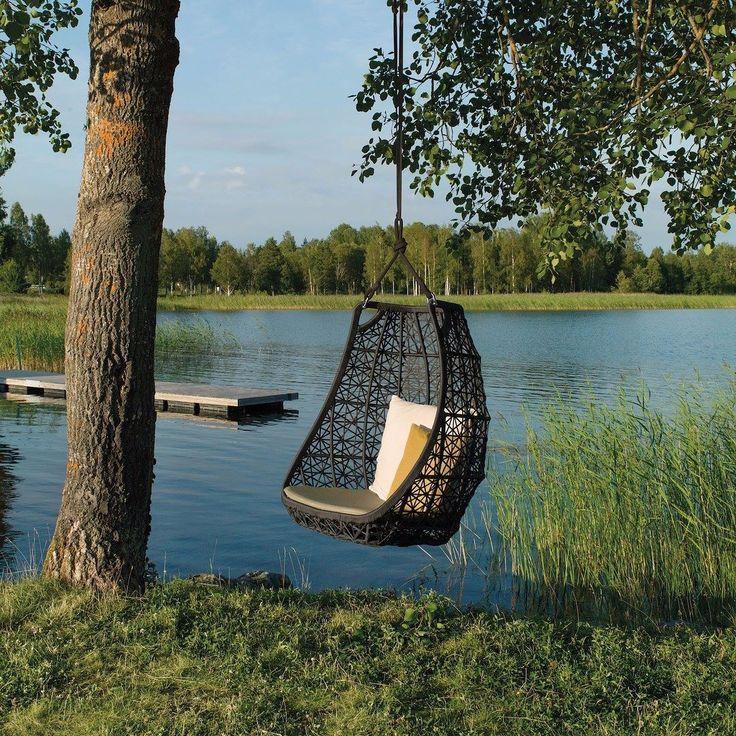 Kettal Maia hanging chair design @paticia_urquiola #egg #chair #hangingchair #swingrest #hanging #lounger #canopy #swingme#chair #natural #outdoor #furniture #garden #lawn #seat #recliner #sunlonger #design #patriciaurquiola #giardino #exterior #diseño #disegno #architecture
