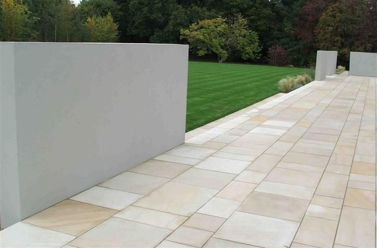 Buff Sandstone Patios & Paving Private Gardens | CED Ltd for all your Natural Stone