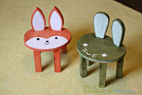 How to build Toddler Sized Animal Stools for $5 each from REAL wood!