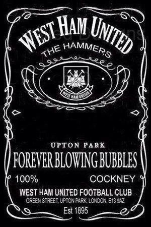 West Ham United & Jack Daniel's Tennessee Whiskey - Two of my favourite things combined