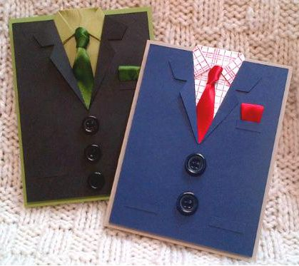 """That Suits Me Just Fine!"" Folded Suit Card...With Tie, Shirt, Suit, Pocket, And Buttons! ♥"