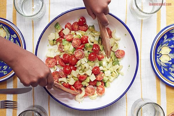 Recipe Box: Truffled Avocado, Tomato, and Hearts of Palm Salad