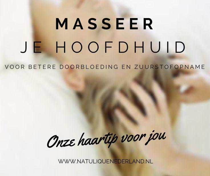 Onze haartip voor jou: masseer je hoofdhuid voor een betere doorbloeding en zuurstofopname! Door je hoofdhuid regelmatig te masseren en reinigen zorg je voor een betere doorbloeding van je haarzakjes en zuurstofopname van de huid. Zo stimuleer je de haargroei van de wortel.