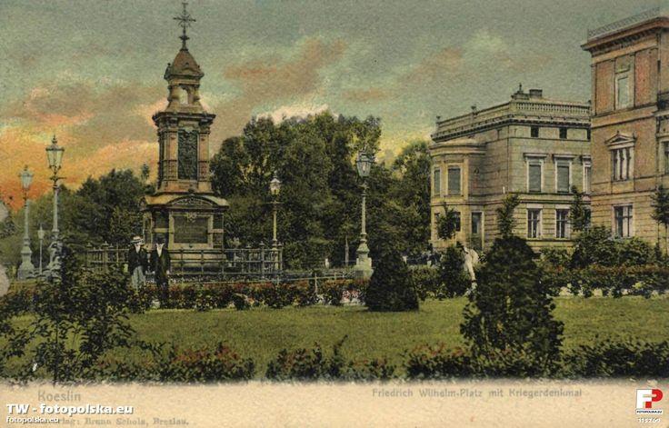 Pomnik poległych (Kriegerdenkmal), Koszalin - 1905 rok, stare zdjęcia