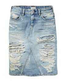 The 17 best images about Destroyed Denim Skirts on Pinterest ...