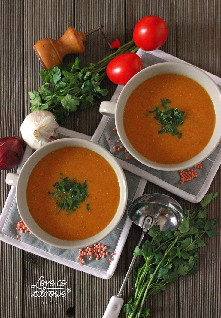 Love co zdrowe: Zupa z czerwonej soczewicy i pomidorów rzymskich