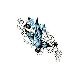 butterfly with flower tattoos for women  | New butterfly tattoos images for you