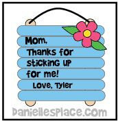 Mother's Day Craft for Kids from www.daniellesplace.com