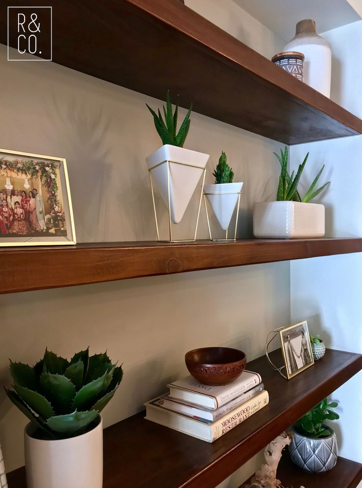 Mid century shelving design by Reyes & Co. Design Studio