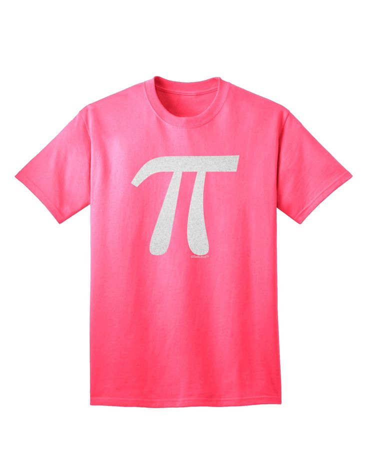 Pi Symbol Glitter - White Adult T-Shirt by TooLoud