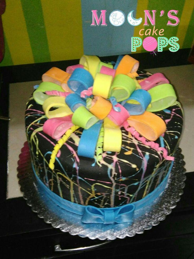 Best 25 Neon Cakes Ideas On Pinterest Neon Birthday